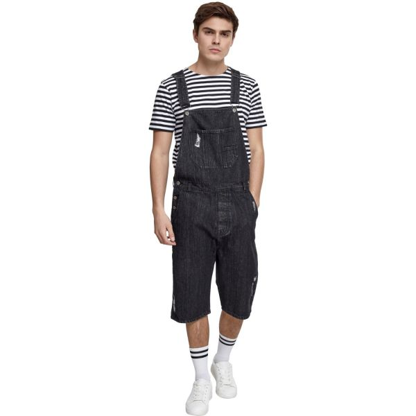 Urban Classics - Denim Short Dungaree Jeans Latzhose