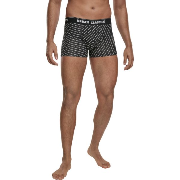 Urban Classics - Boxer Shorts 3er Pack charcoal / schwarz