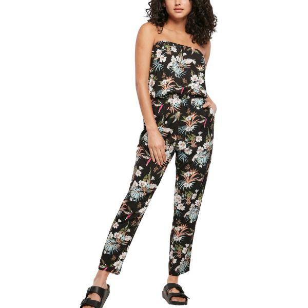 Urban Classics Ladies - Bandeau Jumpsuit Overall tropical