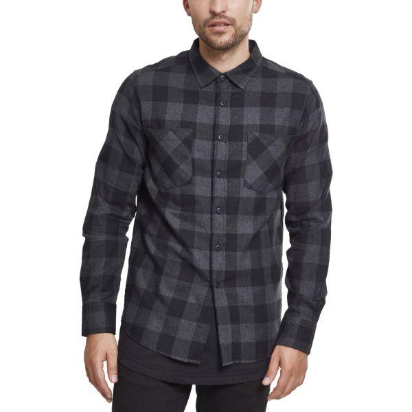 Urban Classics - CHECKED FLANELL Shirt royal / black
