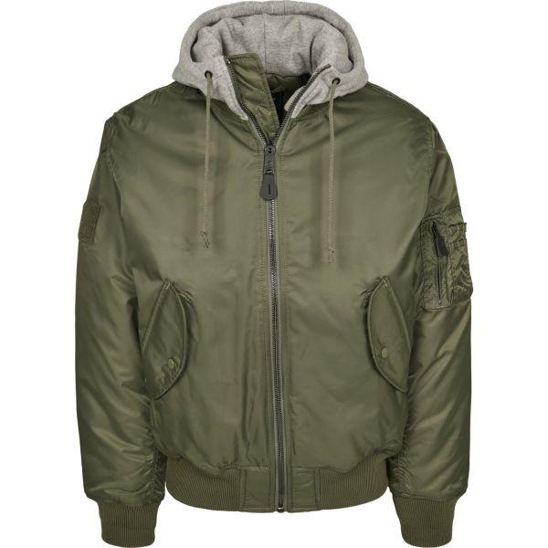 Brandit - MA1 BOMBER Hooded Jacket olive