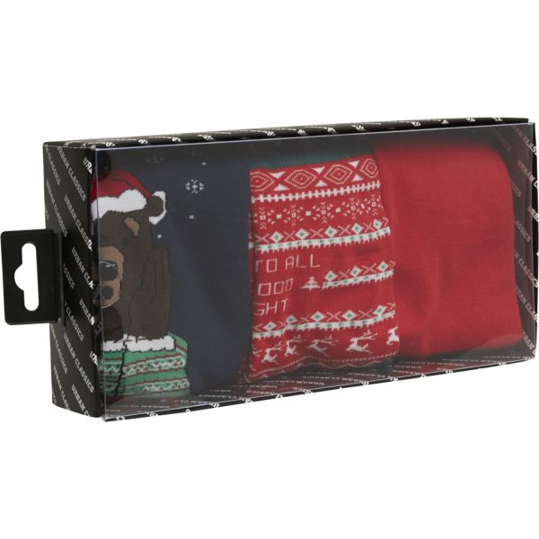 Urban Classics - Christmas Bear Unisex socks 3-pack