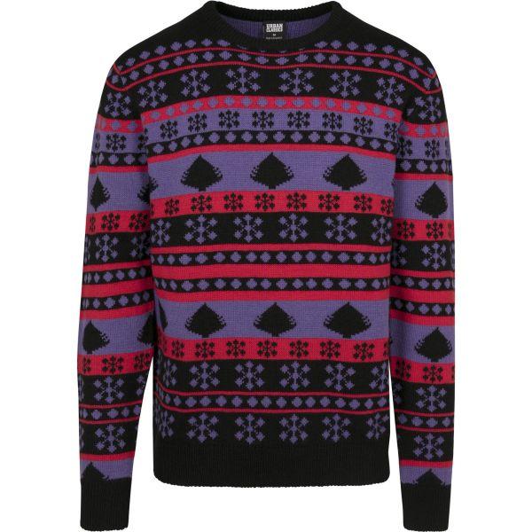 Urban Classics - Snowflake Christmas Sweater green