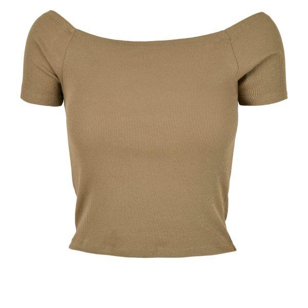 Urban Classics Ladies - Off Shoulder Rib Top trägerlos