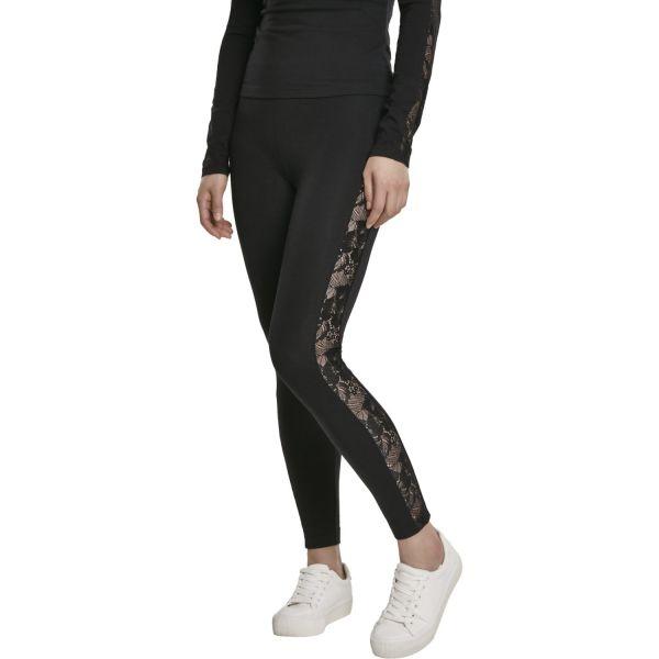 Urban Classics Ladies - LACE Leggings noir