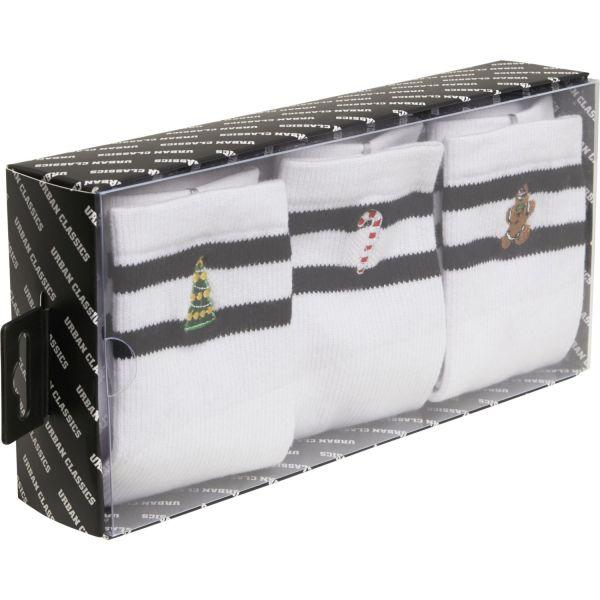 Urban Classics - Christmas Sporty Socken 3er Pack