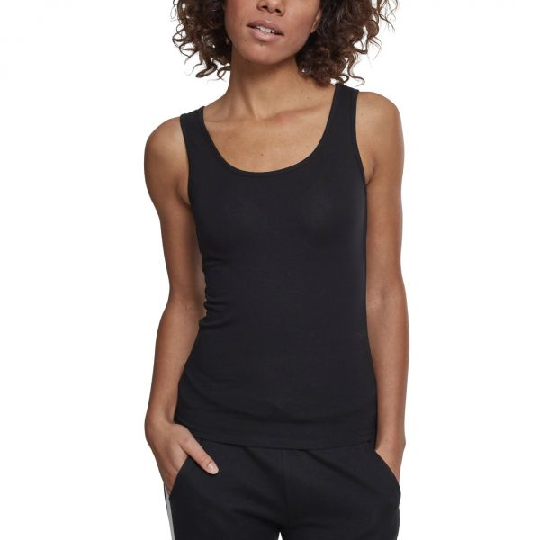 Urban Classics Ladies - Basic Stretch Tank Top 2er Pack weiß