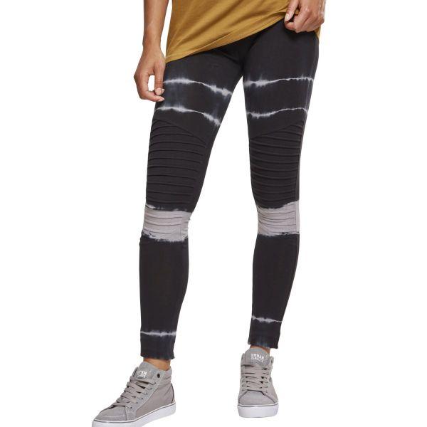 Urban Classics Ladies - Tie Dye Biker Leggings schwarz