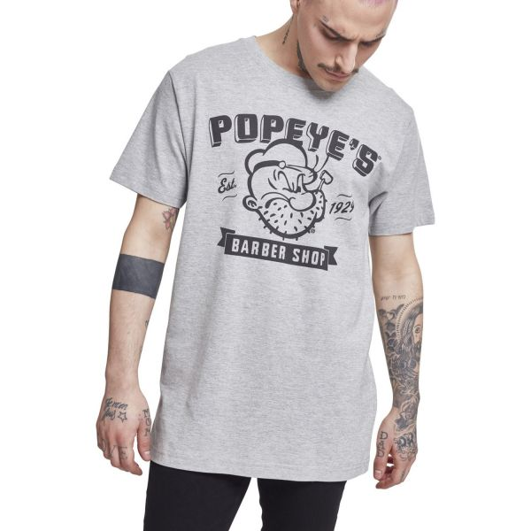 Merchcode Shirt - Popeye Barber Shop grau