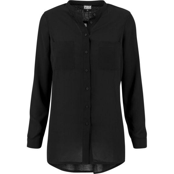 Urban Classics Ladies - HILO Chiffon Long Bluse Hemd Shirt