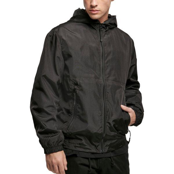 Urban Classics - Full Zip Nylon Crepe Jacket orange