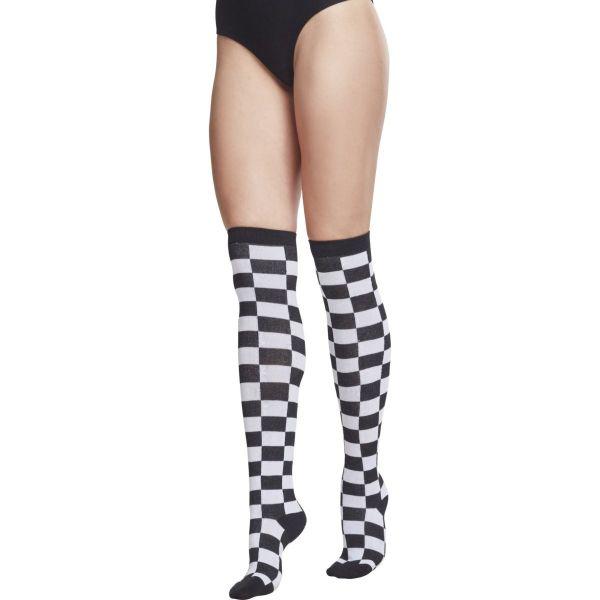 Urban Classics Ladies - CHECKER Kniestrümpfe Overknee Socken
