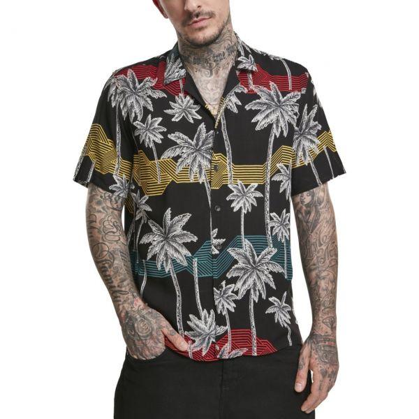 Urban Classics - Palm Tree Resort Shirt Hemd