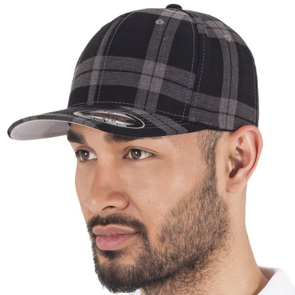 Flexfit TARTAN PLAID Stretchable Flanell Cap