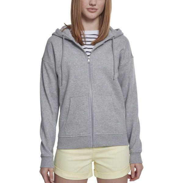 Urban Classics Ladies - BASIC Zip Hoody gris