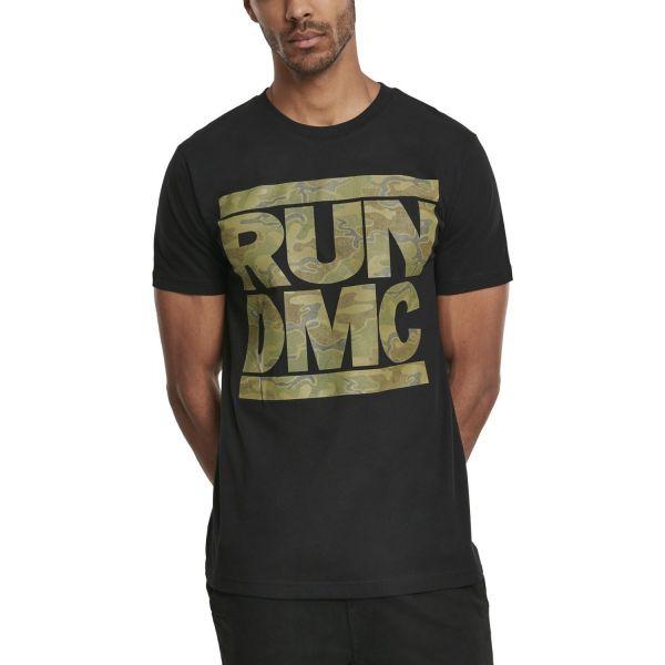 Merchcode Shirt - RUN DMC schwarz / wood camo