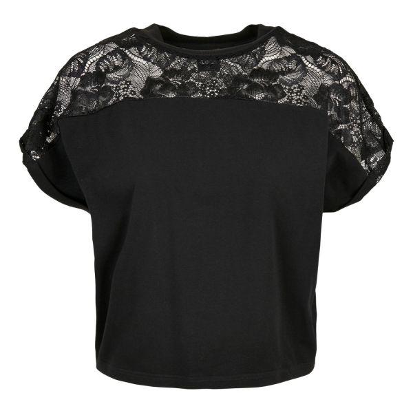 Urban Classics Ladies - Short Oversized Lace Top