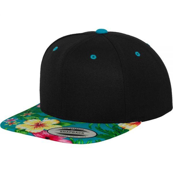Flexfit HAWAIIAN Snapback Cap - black / aqua