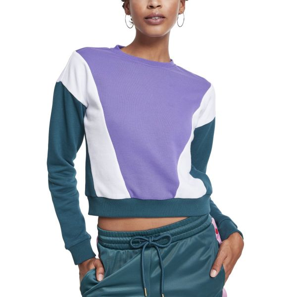 Urban Classics Ladies - ARROW Short Crewneck Pullover