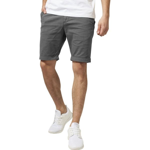 Urban Classics - STRETCH CHINO Shorts dark olive