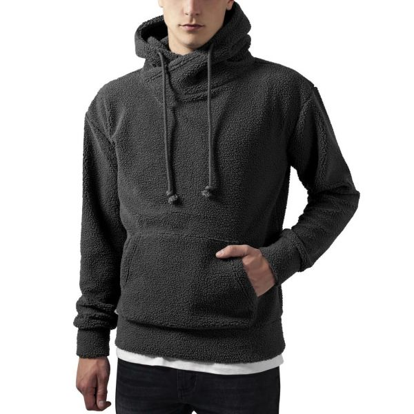 Urban Classics - HIGH NECK Sherpa Teddy Hoody