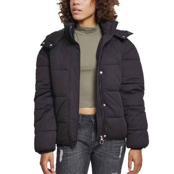 Urban Classics Ladies - Hooded Puffer Boyfriend Winterjacket