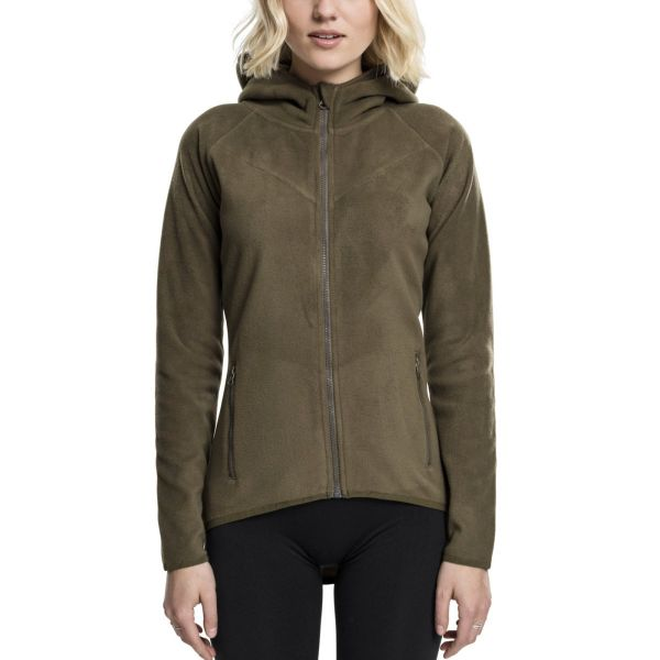 Urban Classics Ladies - Polar Fleece Zip Hoody olive