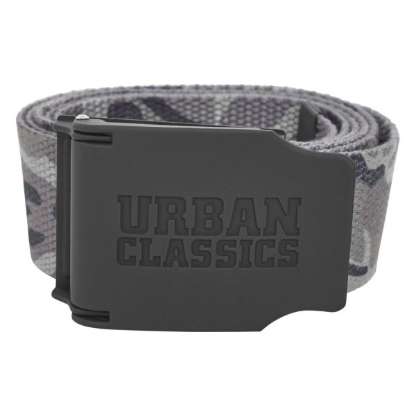 Urban Classics - CANVAS Rubbered Touch Ceinture noir
