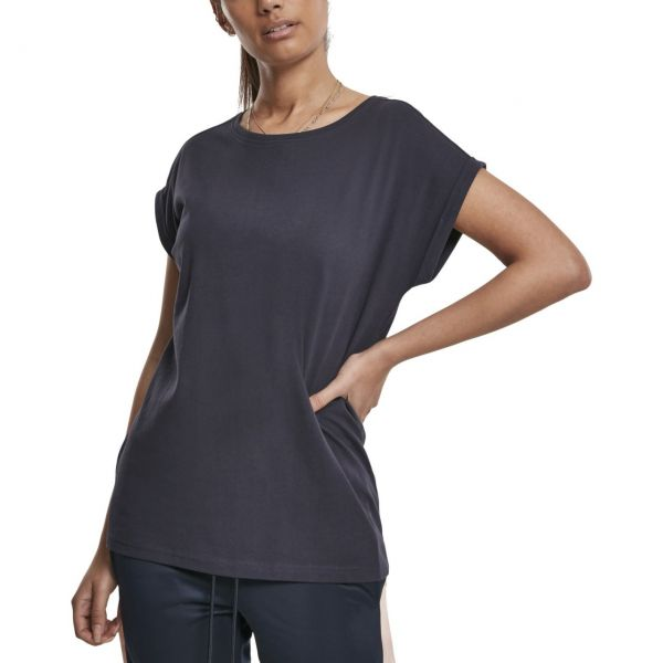 Urban Classics Ladies - Organic Extended Shirt navy