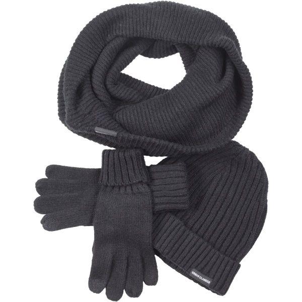 Urban Classics - WINTER SET Mütze Schal Handschuhe schwarz