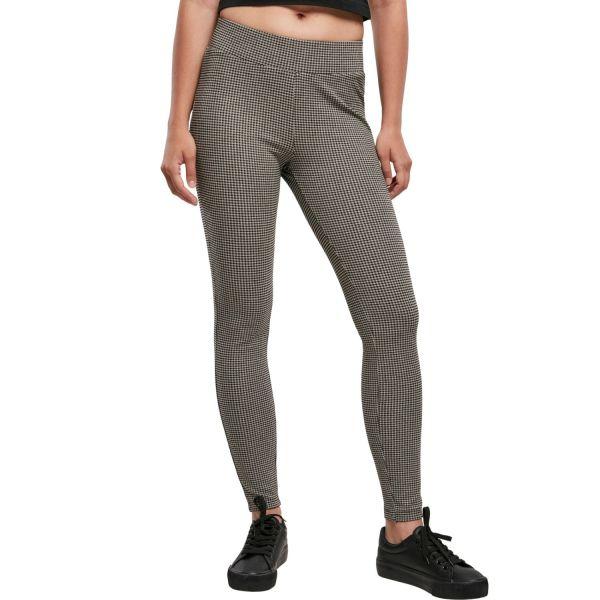 Urban Classics Ladies - Vichy Check High Waist Leggings