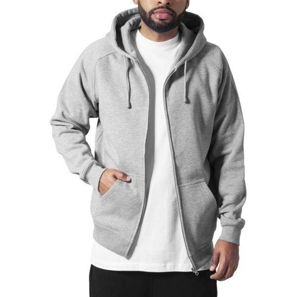 Urban Classics - Zip Sweat à capuche gris - XL