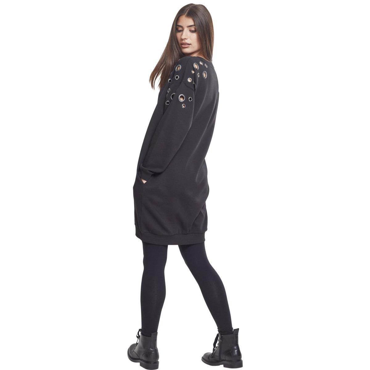 Urban Classics Damen Sweatshirt Longshirt Fine Knit Oversize
