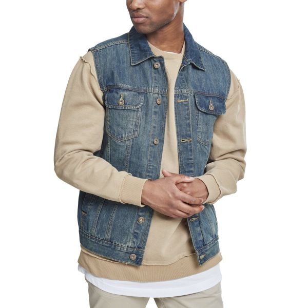Urban Classics - DENIM Gilet light blue