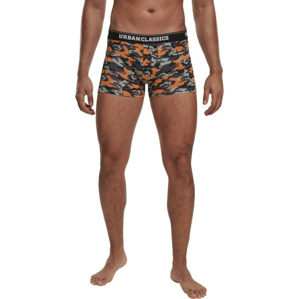 Urban Classics - Boxer Shorts 3er Pack camo / schwarz