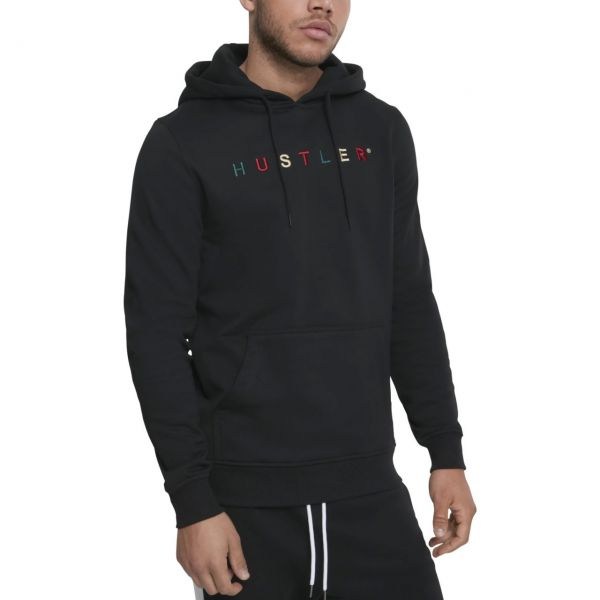 Merchcode Fleece Hoody - Hustler Embroidery noir