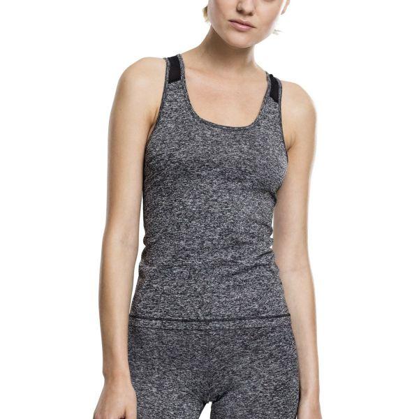 Urban Classics Ladies - Active Melange Fitness Training Top