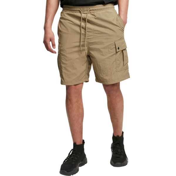 Urban Classics - Nylon Cargo Shorts khaki