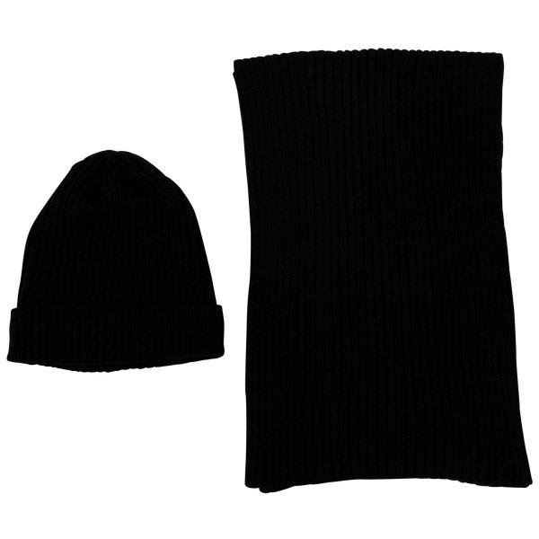 Urban Classics - BASIC SET Beanie und Schal schwarz