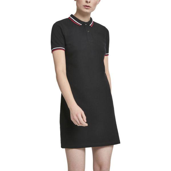 Urban Classics Ladies - Pique Polo Dress black