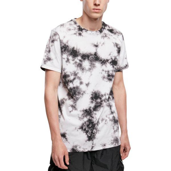 Urban Classics - Tie Dye T-Shirt weiß / schwarz