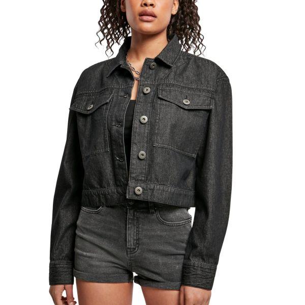 Urban Classics Ladies - Short Oversized Denim Jacke