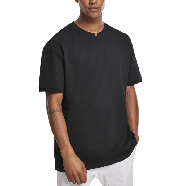 Urban Classics - Garment Dye Oversize Pique Shirt schwarz