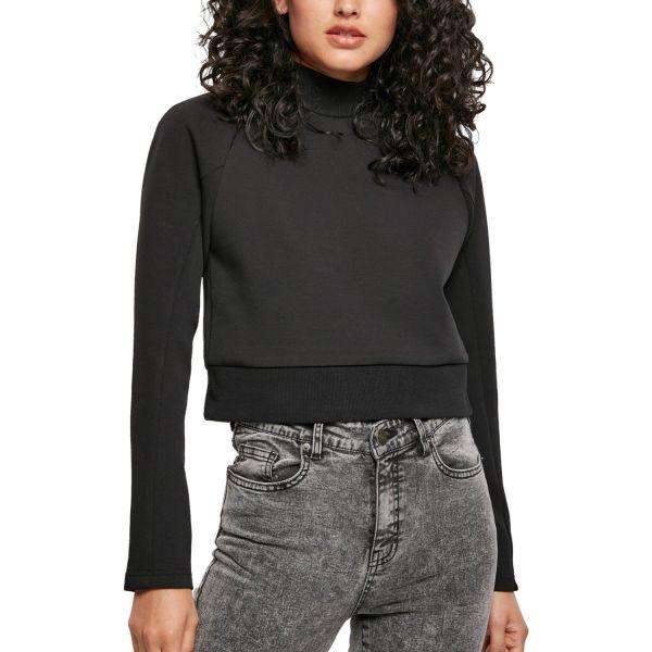 Urban Classics Ladies - Interlock Short Turtleneck Pullover