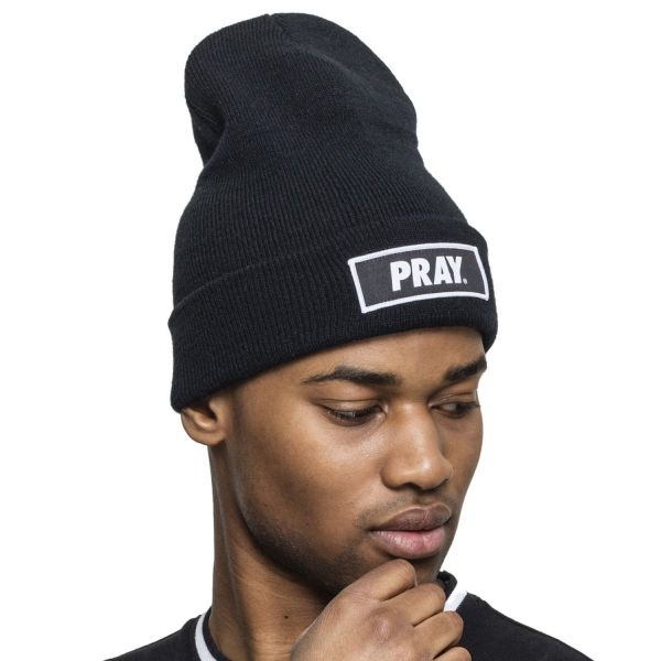 Mister Tee Hiver Long Beanie - PRAY maroon