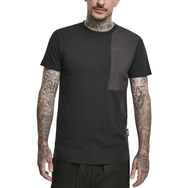 Urban Classics - Military Shoulder Pocket Shirt schwarz