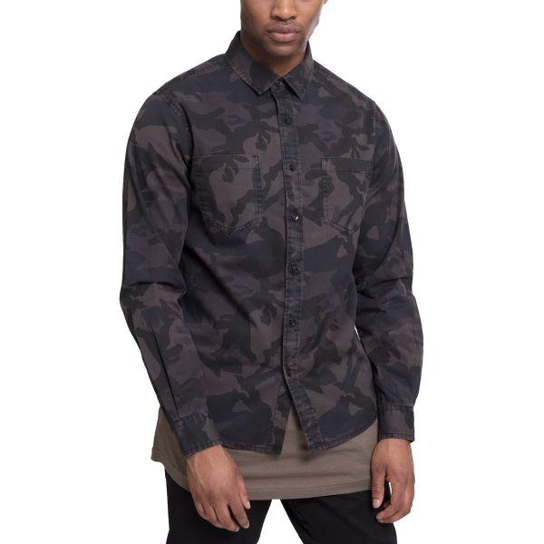 Urban Classics - Kent-Kragen Hemd camouflage