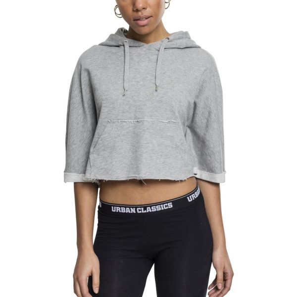 Urban Classics Ladies - CROPPED Hooded Poncho black