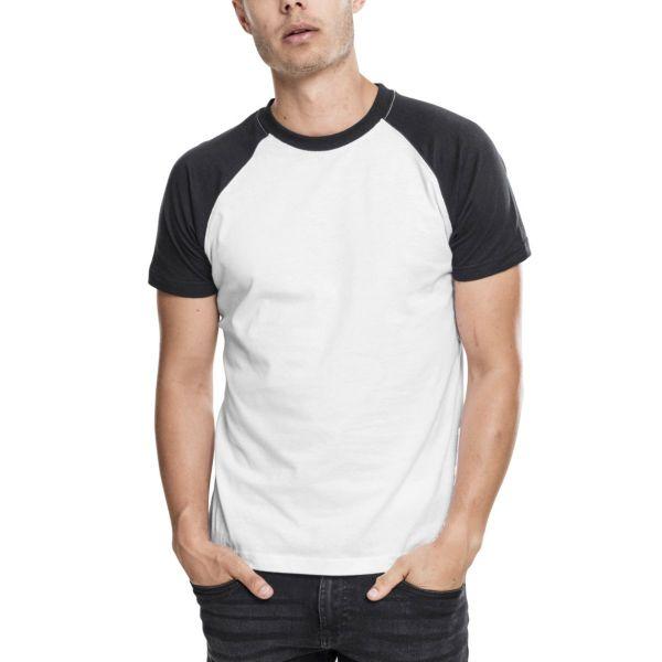 Urban Classics - RAGLAN Contrast T-Shirt charcoal / redwine