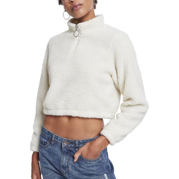 Urban Classics Ladies - Short Sherpa Troyer Pullover